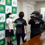 【放送部】ケーブルテレビZTVに取材していただきました